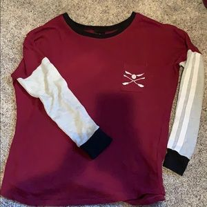 Harry Potter Quidditch long sleeve maroon shirt